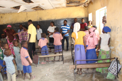 WASCAL CC&HH staff  interaction with pupils